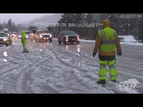 Thumbnail: I-80 Icy Roads, Snow, Accidents, Snow Chains 10-30-16 Rainbow/Troy, CA