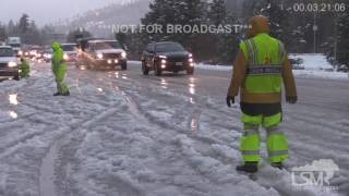 I-80 Icy Roads, Snow, Accidents, Snow Chains 10-30-16 Rainbow/Troy, CA