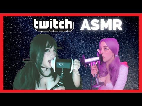 ASMR EAR LICKING, EAR EATING   TWITCH COMPILATION #1