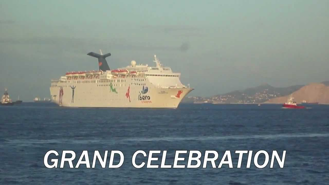 GRAND CELEBRATION Arrival At Piraeus Port  YouTube
