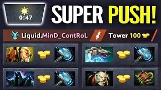 WTF LIQUID PICK ALL 3 STAR PUSH HERO EZ Battle Cup Dota 2 By MinD ContRoL Leshrac