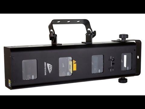 MULTIBEAM LASER Show laser 4 sorties de faisceau séparées vidéo