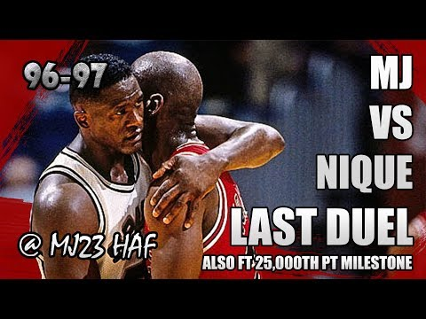 Michael Jordan vs Dominique Wilkins Highlights Bulls vs Spurs (1996.11.30)-Last Duel! 60pts Total!