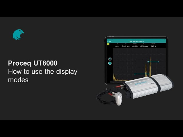 How to use the display modes | Proceq UT8000