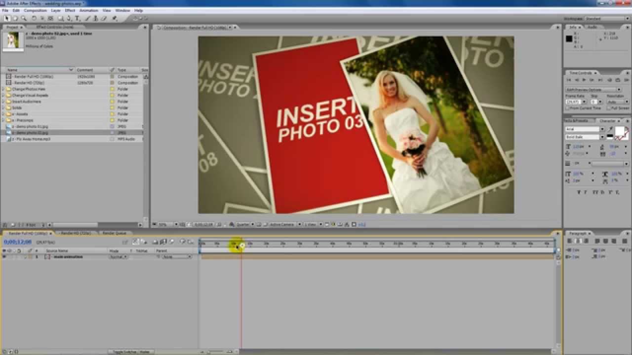 Wedding Photo Montage After Effects Tutorial