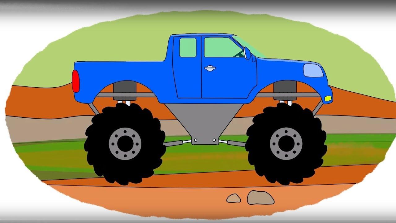 Zeichentrick-Malbuch – die coolsten Geländewagen. - YouTube