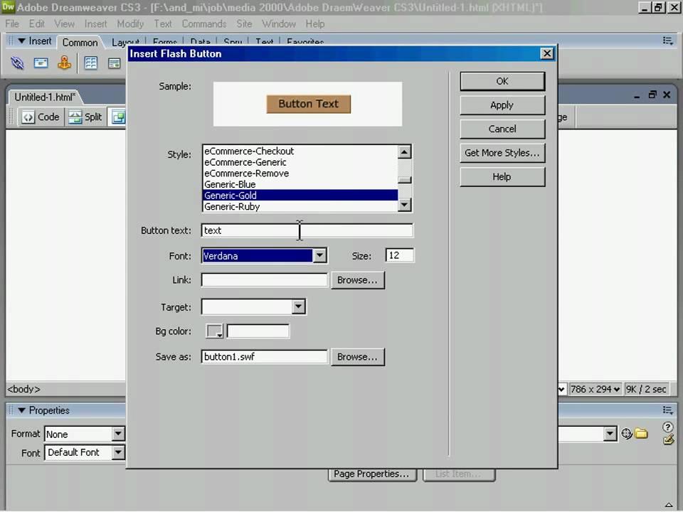 Как сделать кнопку для сайта flash создание, разработка сайтов