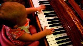 Hannah Playing Mommy's Piano thumbnail