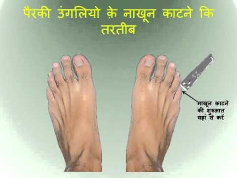 islamic way to cut feet nail