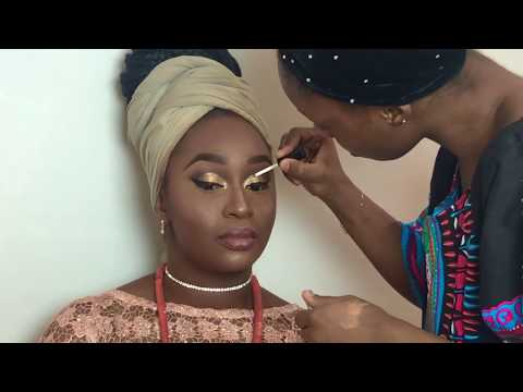 Igbo Traditional Bridal Makeup and Gele