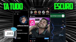 MODO ESCURO Dark Mode em TODOS os Apps (Android e iOS)