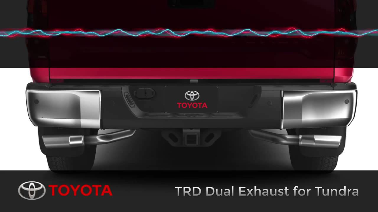 What does Toyota Tundra TRD Dual Exhaust sound like? - YouTube