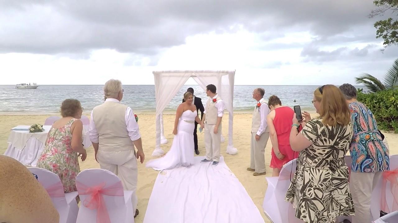 Mr Mrs Bj Sara Clark S Wedding Montego Bay Jamaica 01 07 2017