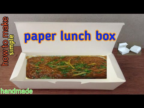 how to make paper lunch box handmade