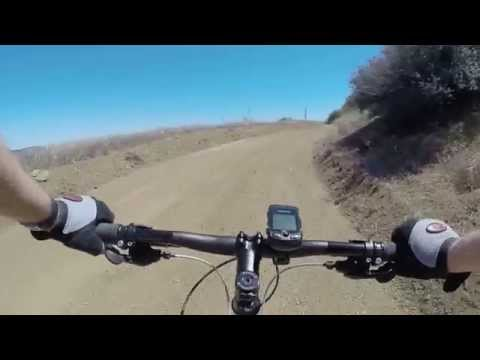 Downhill mountain bike Zuma Ridge trail in Malibu