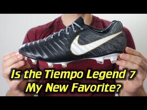 pretty nice 8e417 28a28 Nike Tiempo Legend 7 (Black/White/Gold) - One Take Review + On Feet