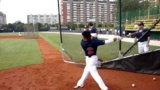 Great Britain Baseball Pre-Game Batting Practice