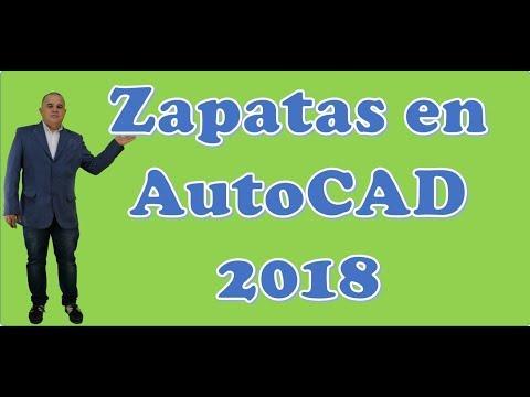 Zapatas en AutoCAD 2018