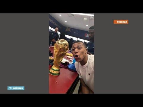 Franse spelers posten doldwaze filmpjes na winnen WK voetbal - RTL NIEUWS