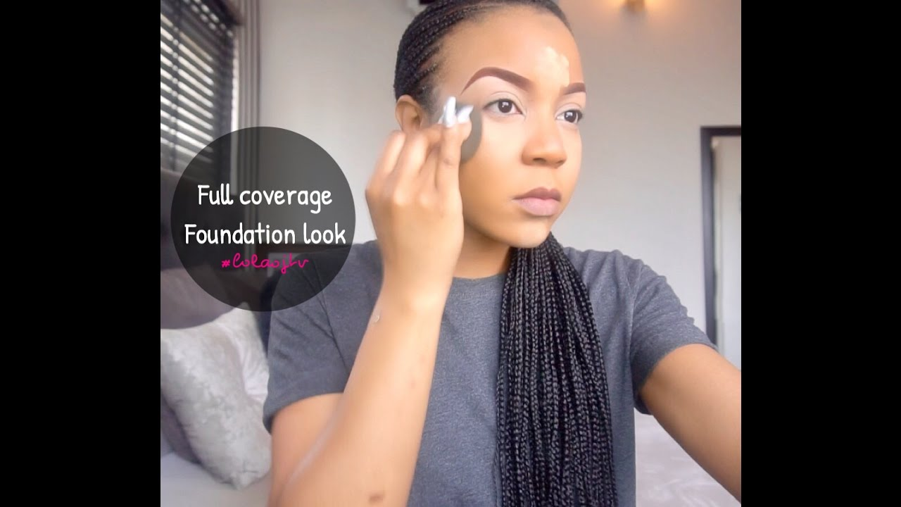 Non Cakey Full Coverage Foundation Look Youtube