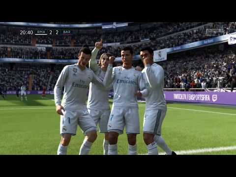 Real Madrid vs FC Barcelona | Fifa 18 Gameplay | Full Graphics | El Classico