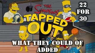 What They Could of Added In The Simpsons Tapped Out 22 For 30 Episode tie-in