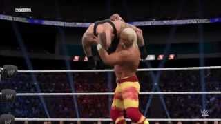 WWE 2K15 PC Gameplay - Hulk Hogan Vs The Undertaker - No Holds Barred Match [Maxed Out]