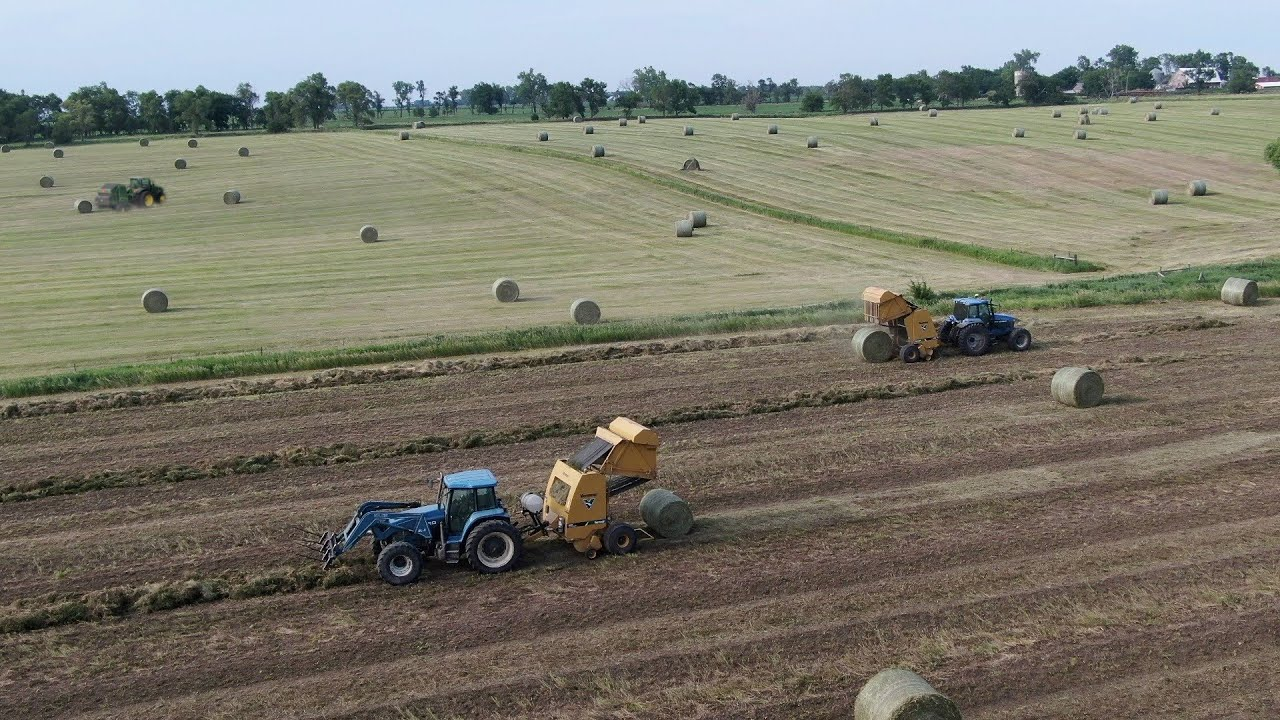 3 Balers make 100's of Round Bales