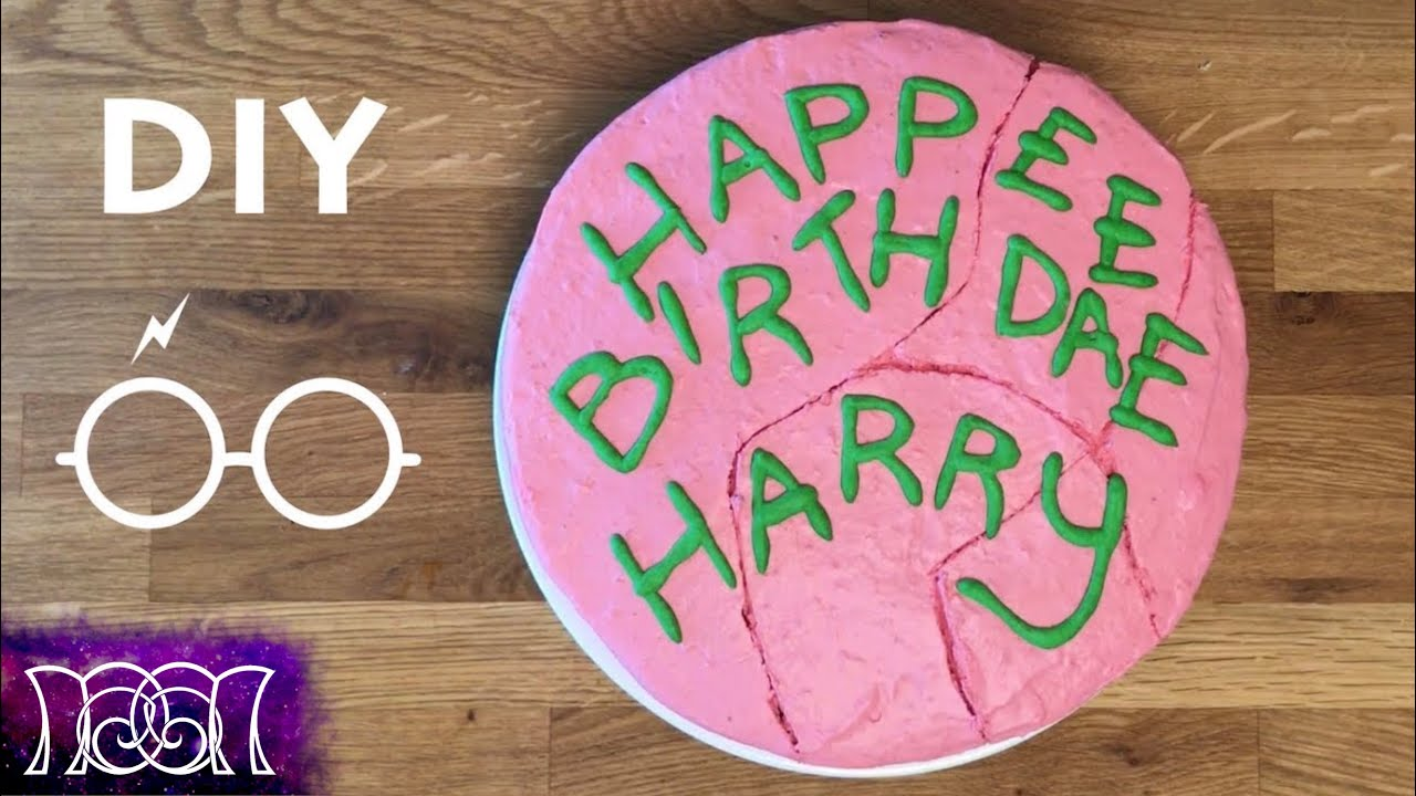 Harry Potter Birthday Cake DIY YouTube