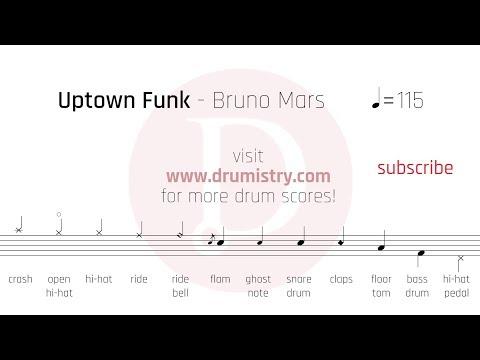 Bruno Mars - Uptown Funk Drum Score