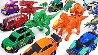Dino Mecard capture car Steno and double figure dinosaur Pachyrhinosaurus appeared! - DuDuPopTOY