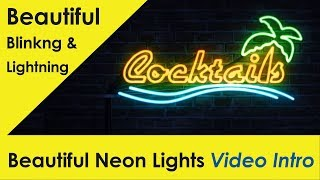 Beautiful Neon Lightning Video Intro