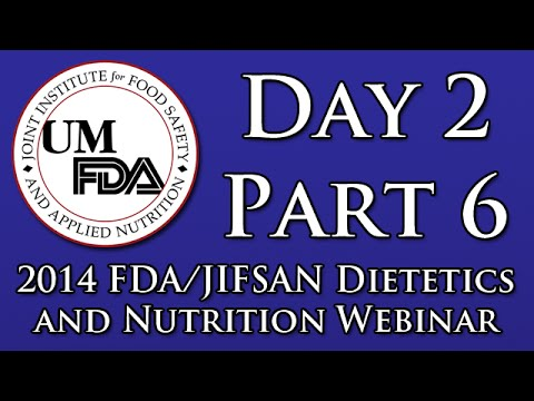 2014 Dietetics and Nutrition Webinar - FDA's Generally Recognized as Safe Notification Process