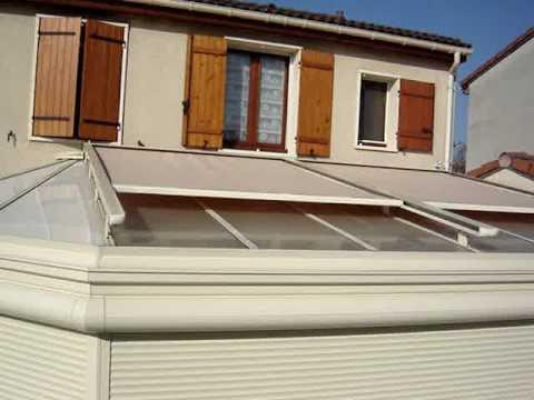 Store exterieur de toiture veranda ambiance youtube for Exterieur veranda