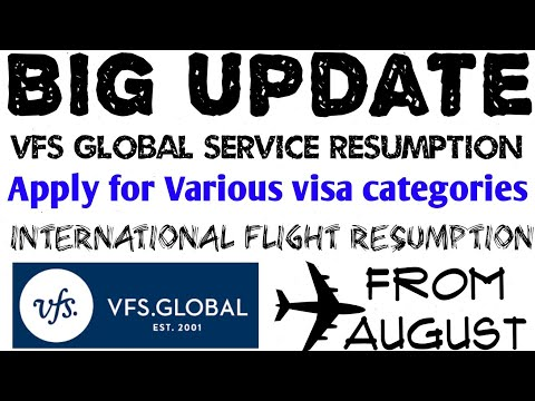 VFS Global Resumption For These Countries | Apply For Various Visa Categories | Int`l Flight Info