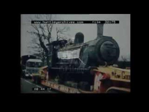 David Shepherd and railway locomotive from Zambia, 1970s Film 32175