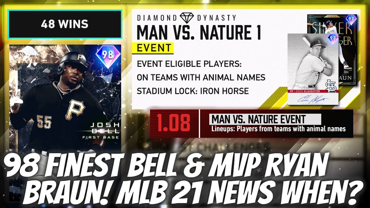 BIG New Diamonds Added! 98 FINEST Josh Bell + MVP Braun! (MLB 21 News When?) MLB The Show 20 Update