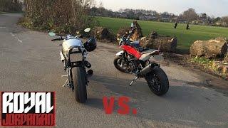 Husqvarna Nuda 900R vs. BMW S1000Rs - Rev Battle