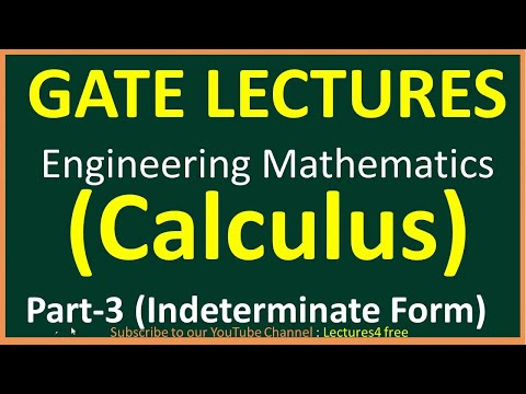 Calculus Part 3 (Indeterminate Form) || Engineering Mathematics for GATE