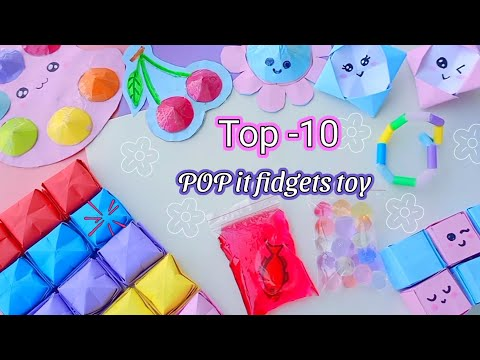 10 DIY FIDGET TOY / how to make pop it  / HOW TO MAKE EASY FIDGET TOYS AT HOME / paper craft