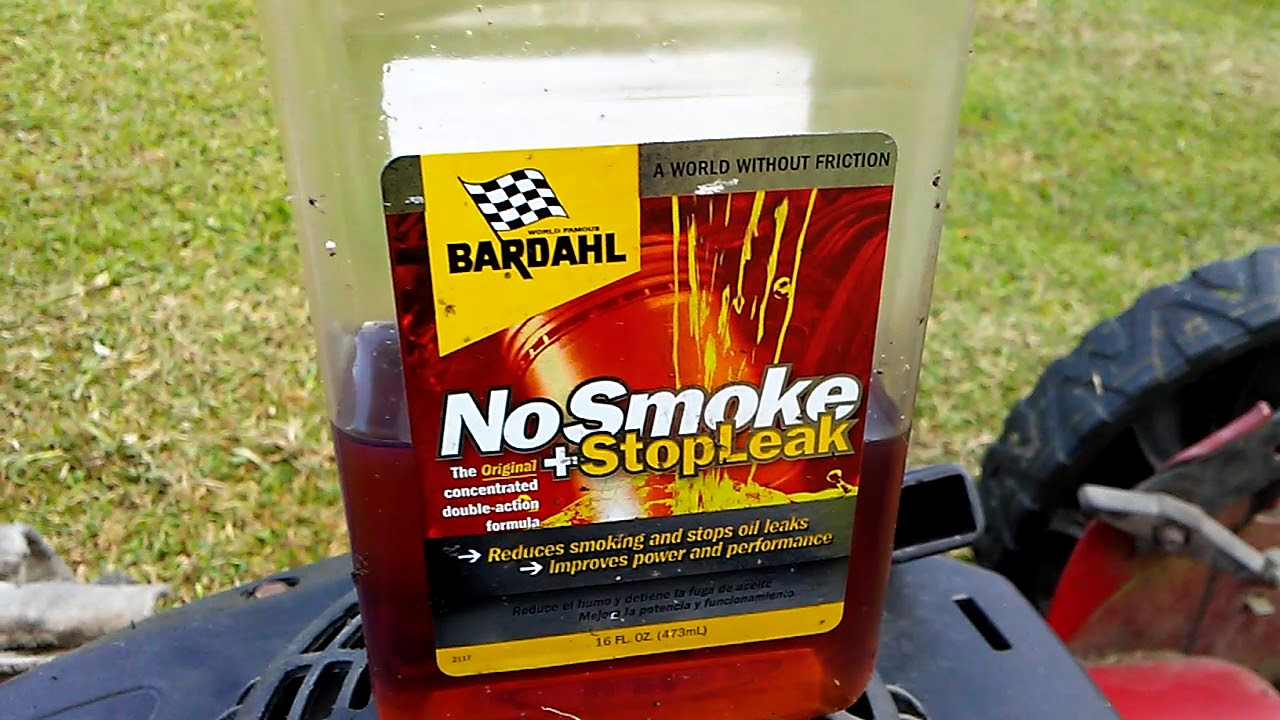 Bardahl no smoke and stop leak works for small engines