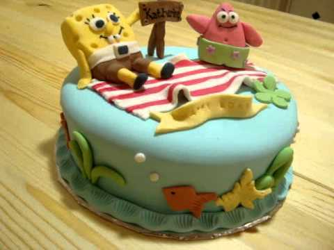 spongebob cake YouTube