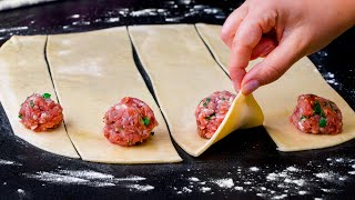 Кто бы мог подумать, что пирожки с мясом можно приготовить таким образом!   Cookrate - Русский