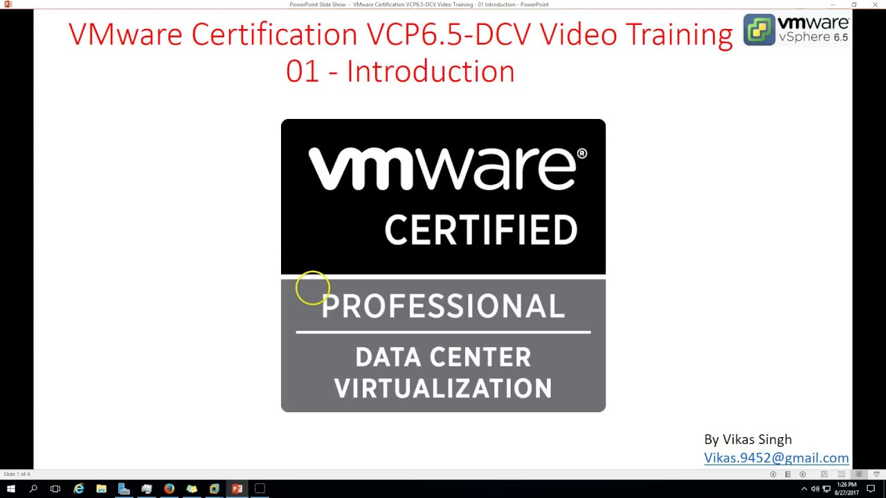 Vmware certification vcp 65 01 introduction youtube vmware certification vcp 65 01 introduction malvernweather Choice Image