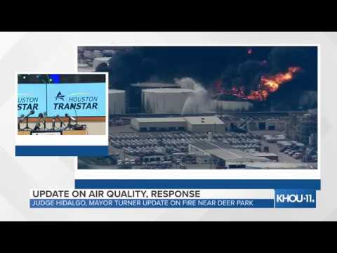 WATCH LIVE: Update on air quality, government response to tank fire