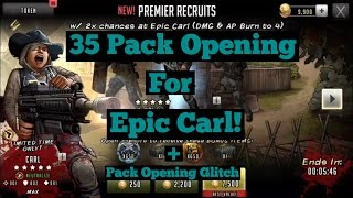The Walking Dead: Road To Survival - 35 Pack Opening For 2x Chances Epic Carl! + Glitch Malfunction