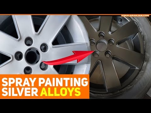 Spray painting Silver alloys into Black