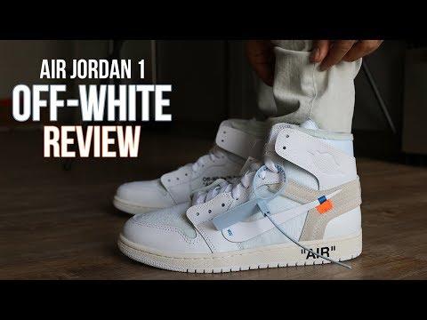 OFF WHITE AIR JORDAN 1 WHITE REVIEW