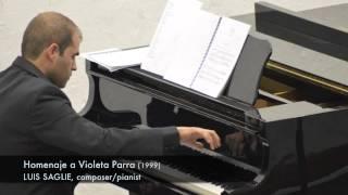 """LUIS SAGLIE, Composer - """"Homenaje a Violeta Parra"""""""