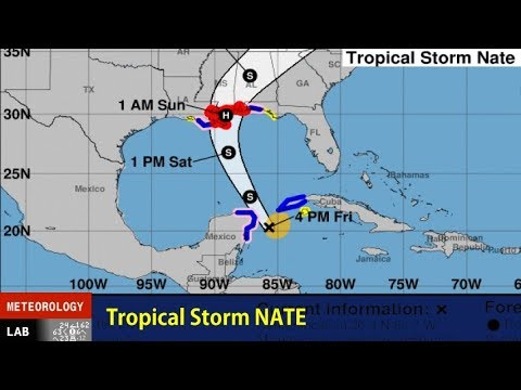 NIGHTLY WEATHER - 10/6/2017 - 8 PM CDT - Tropical Storm Nate approaches the Gulf of Mexico